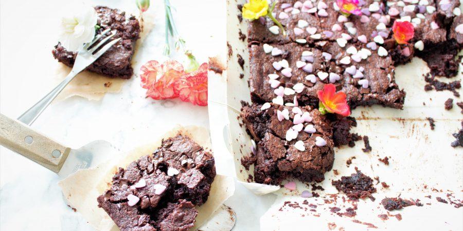 Amerikaanse brownie (glutenvrij, melkvrij en eivrij)