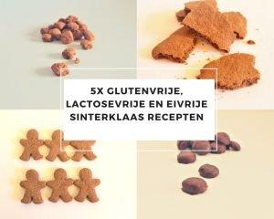5x glutenvrije, lactosevrije en eivrije sinterklaas recepten