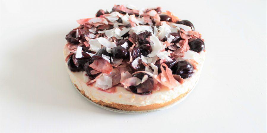Kokos yoghurttaart met kersen (glutenvrij, lactosevrij en eivrij) - Het Baklab