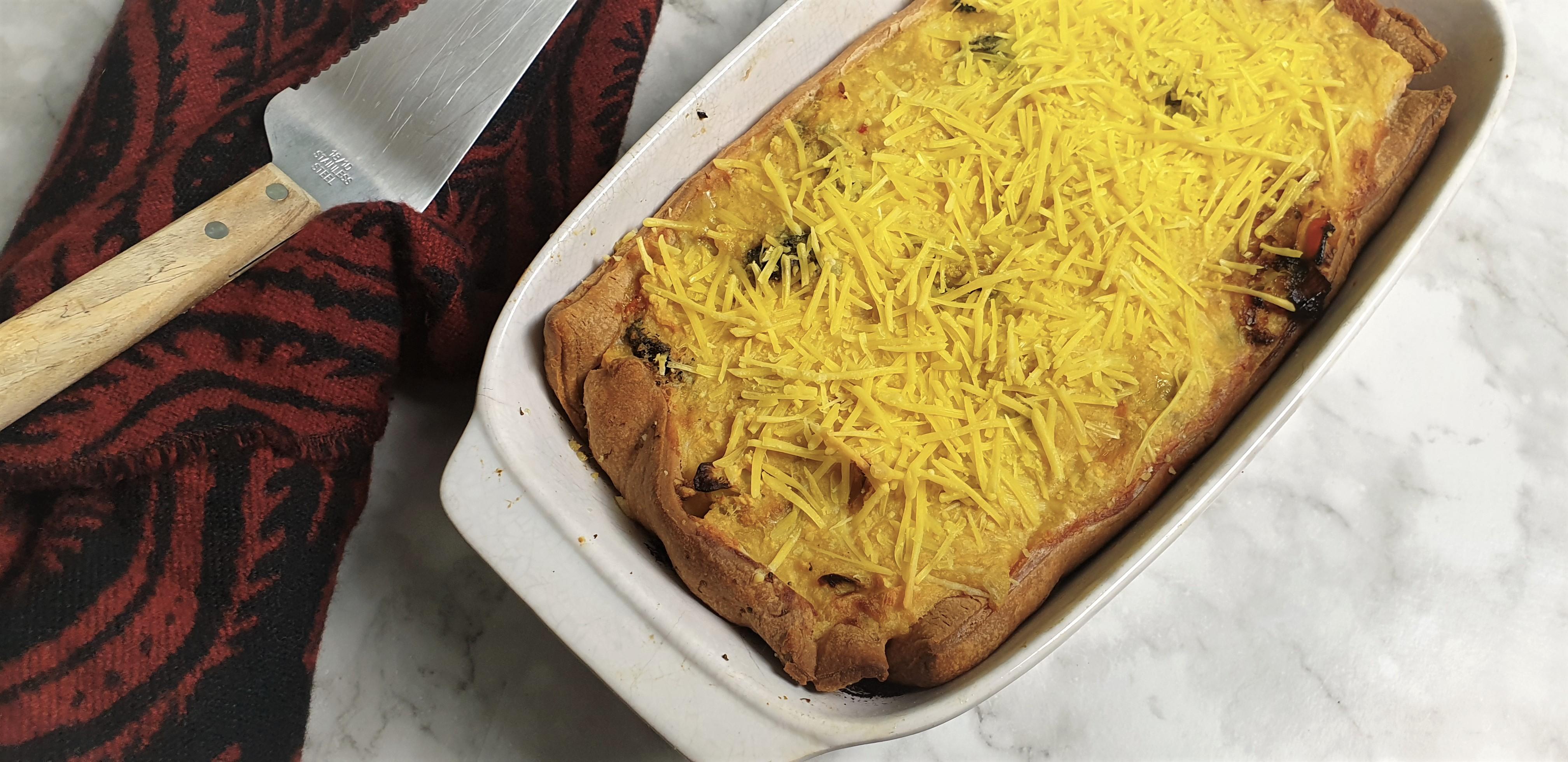 Groentequiche hartige taart (glutenvrij, lactosevrij en eivrij)